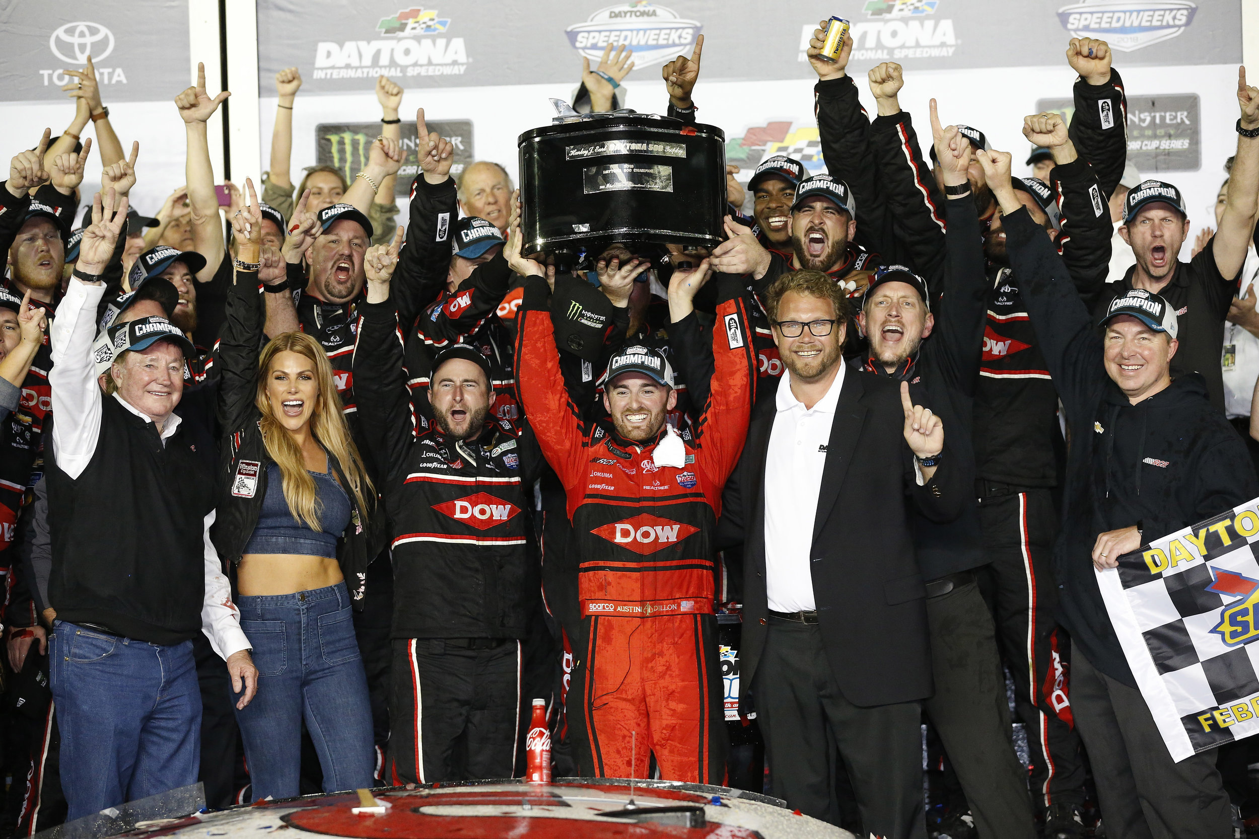 Austin Dillon in Victory Lane / Daytona 500 / 2018