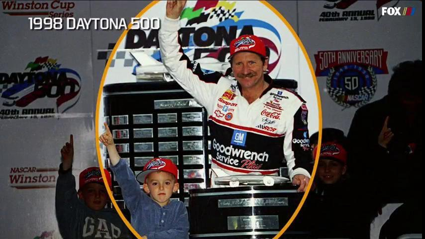 Austin Dillon with Dale Earnhardt / Daytona 500 / 1998