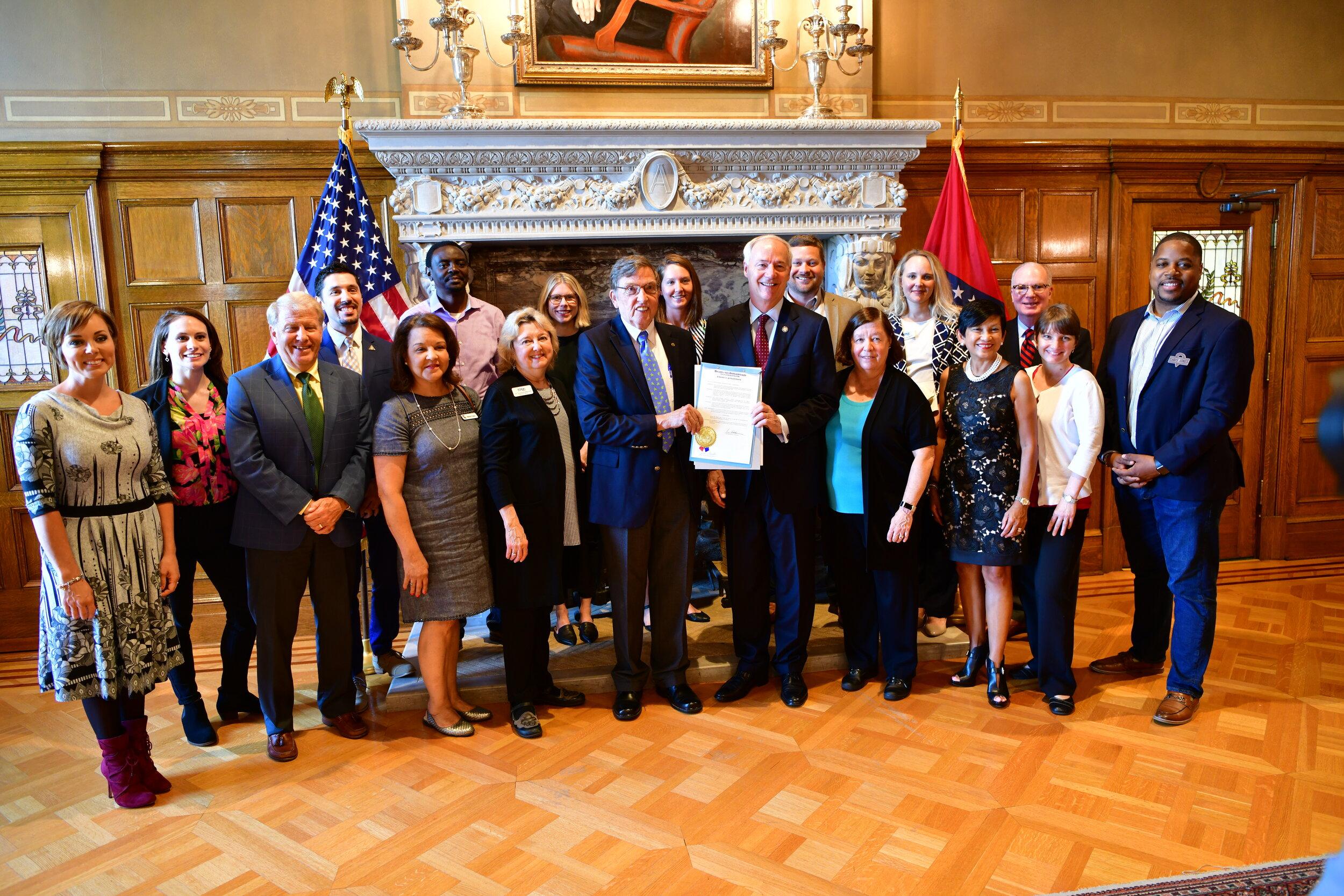 2019 Gov. Hutchinson Signing Proclamation.JPG