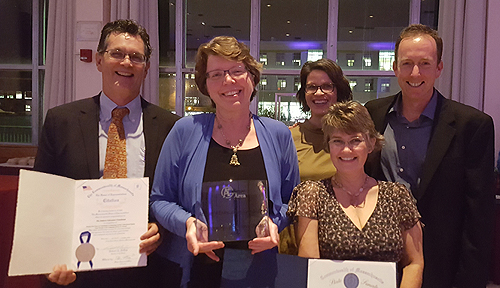 Current and past AEF Board members with AEF's A+ Award for Community Service and citations from the State Senate and House of Representatives.