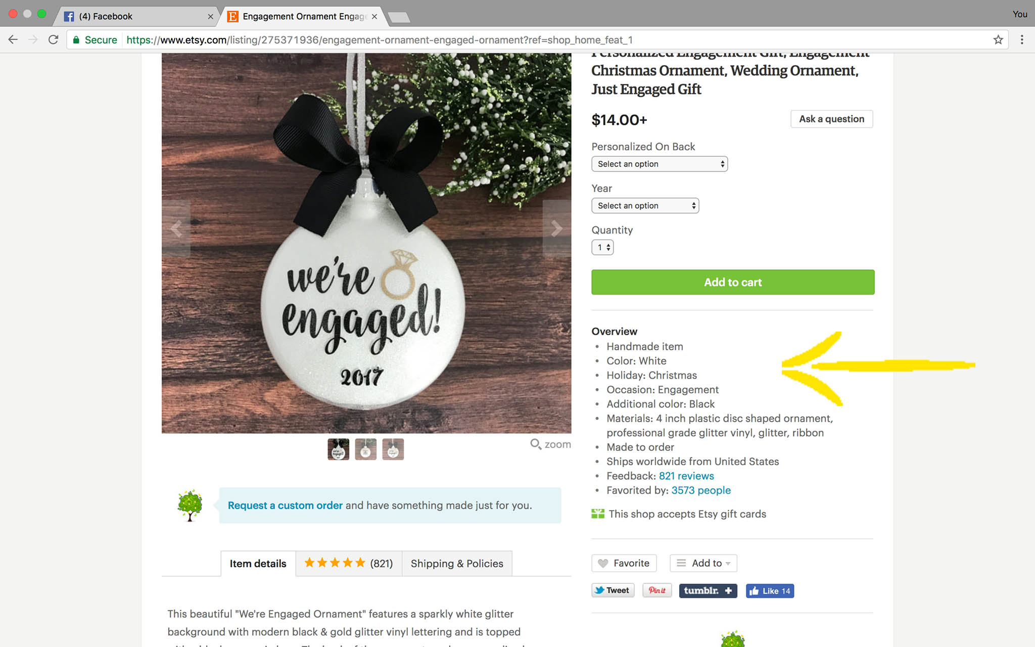 Etsy search changes listing