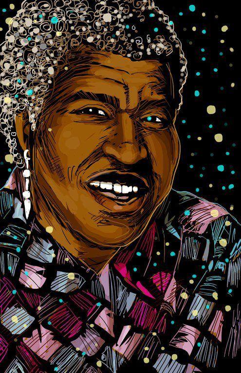 Portrait of Octavia Butler by illustrator  John Jennings