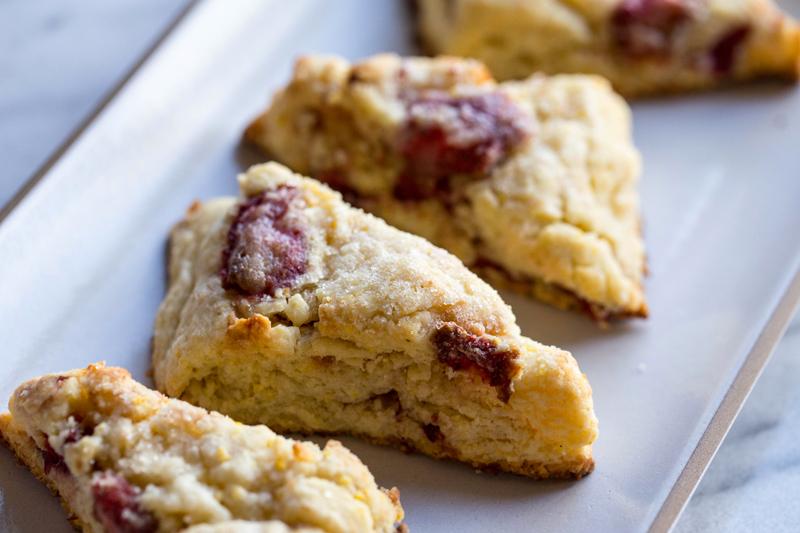 strawberry cornmeal scones