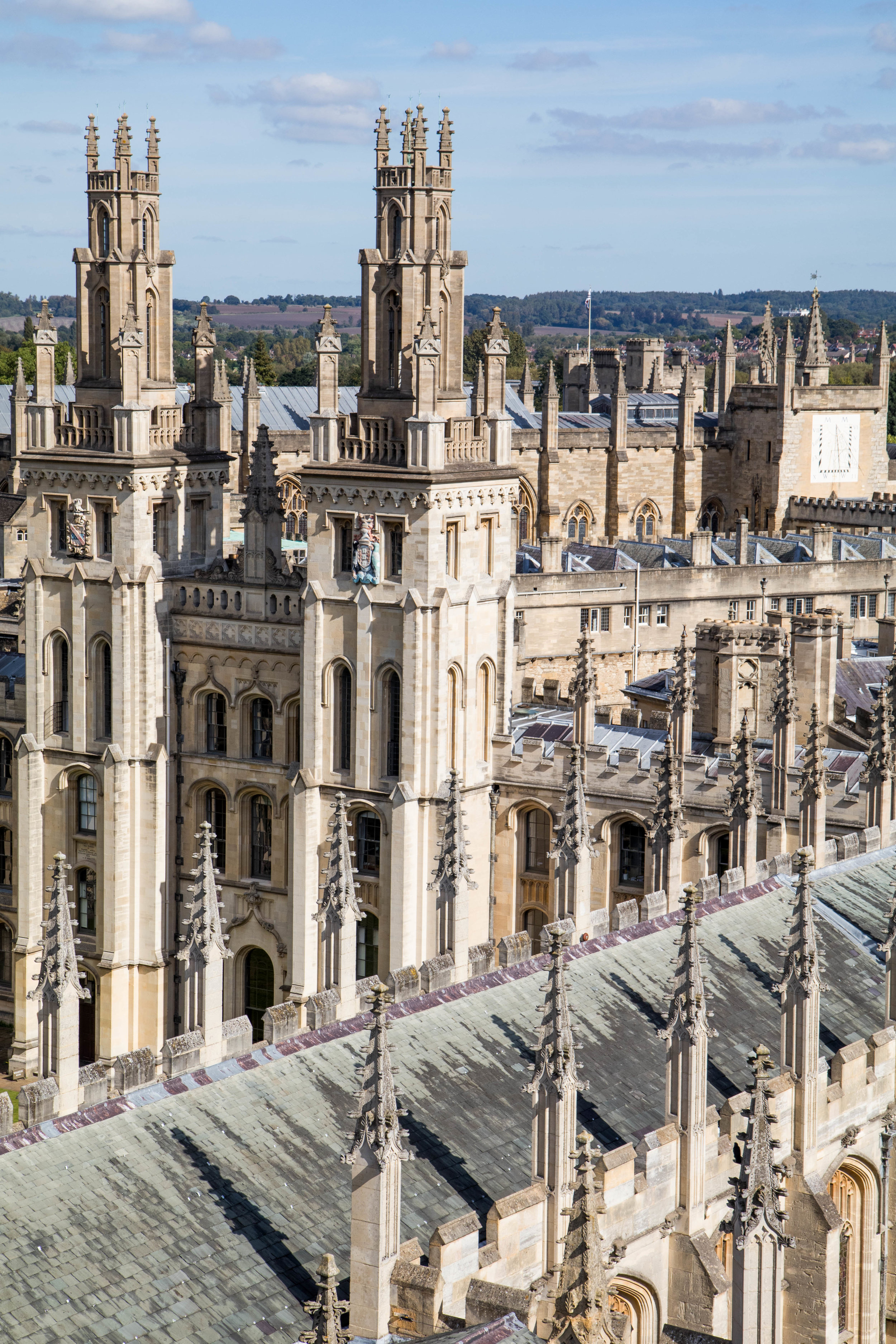 View of All Soul's College from The University Church of St. Mary, Oxford.