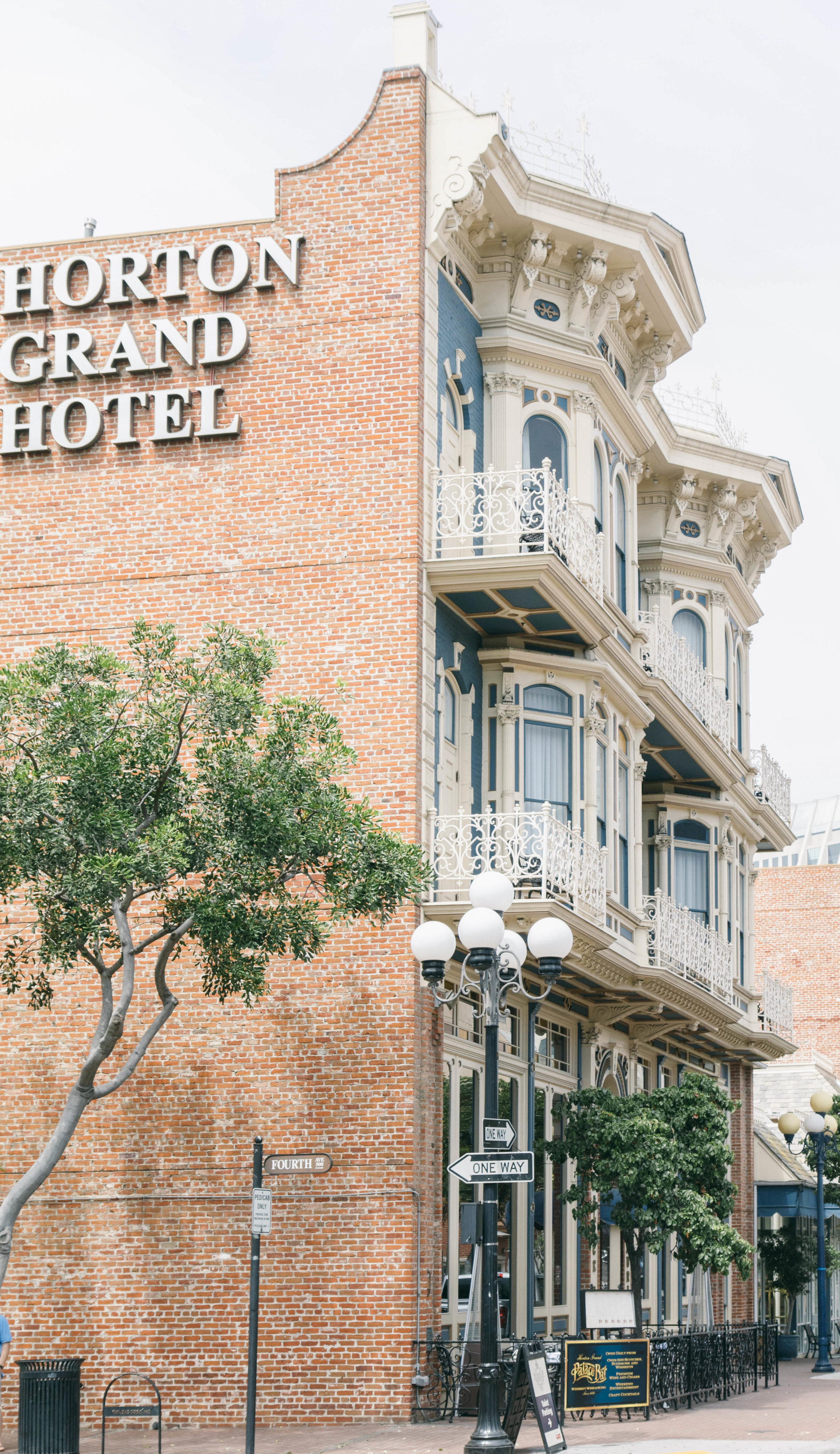 The Horton Grand Hotel, at the corner of Island and Fourth Avenue.