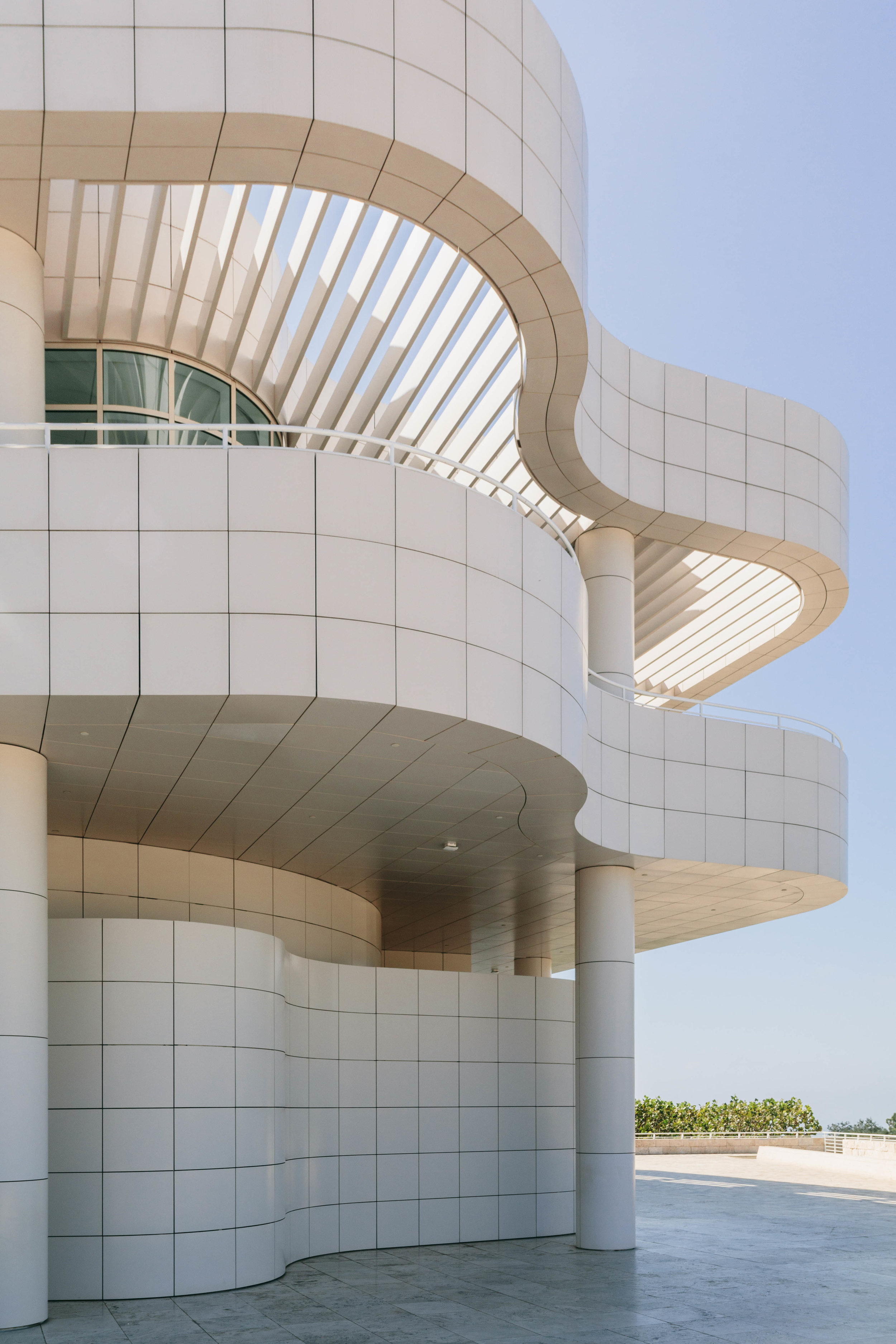 Our first view of Richard Meier's genius design of the Getty Museum.