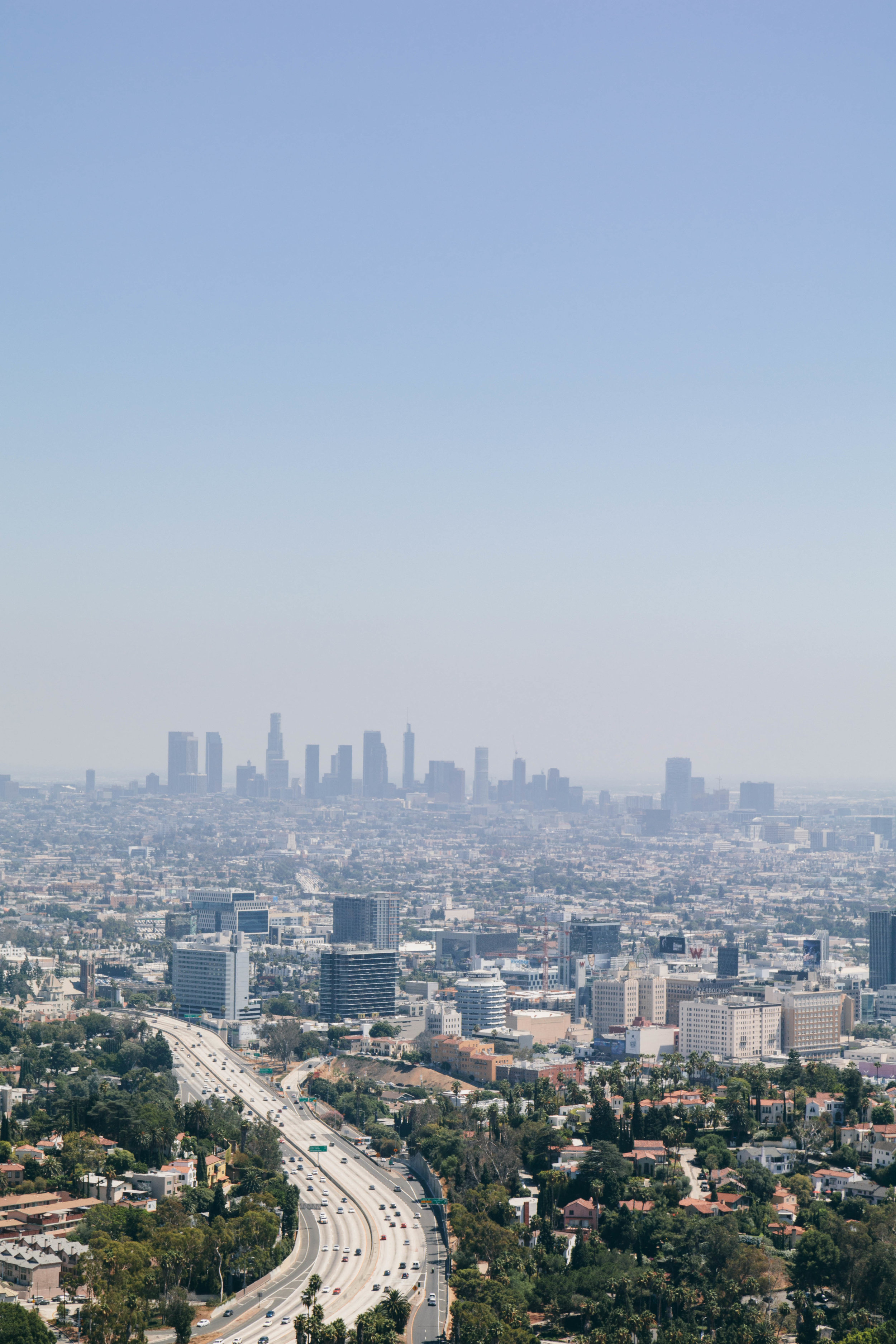 Quintessential LA, as seen from Mulholland Drive.