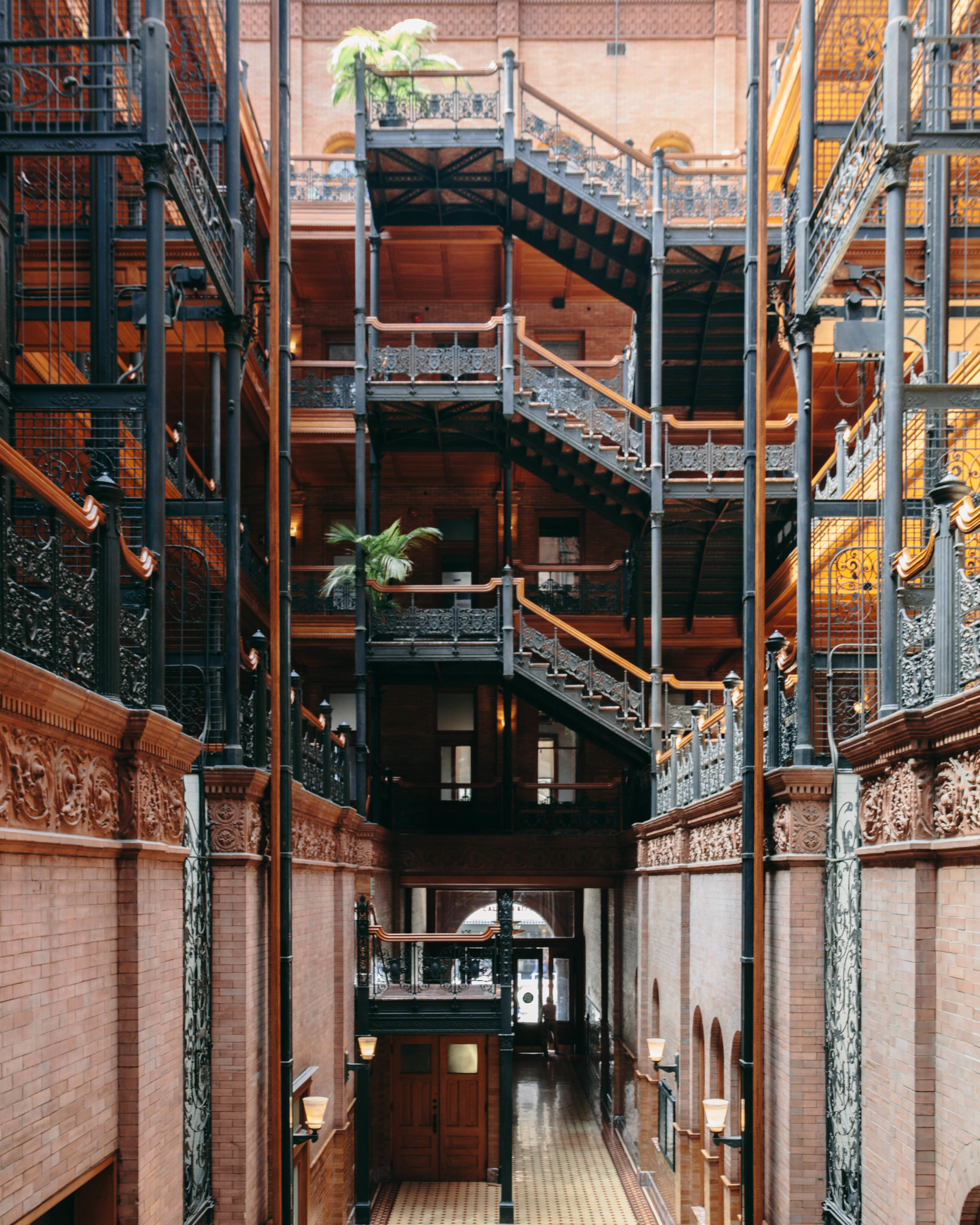 The interior of the Bradbury Building in DTLA.