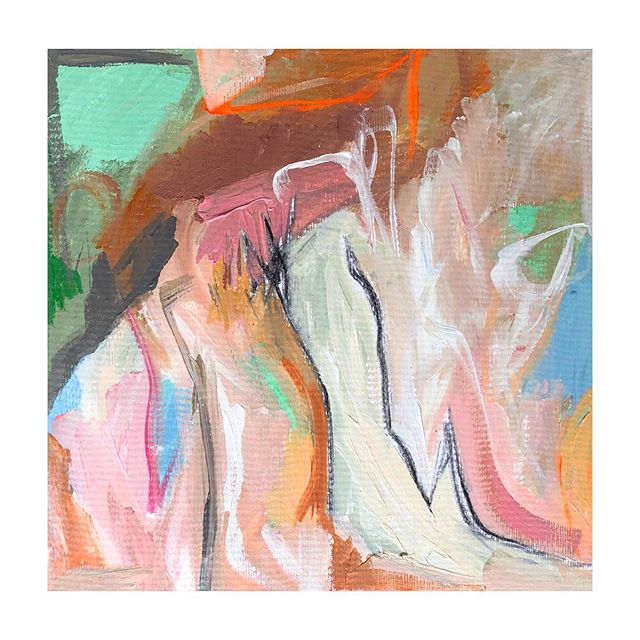 Color in the Hills • 12x12 • oil and acrylic on cold press paper • $120