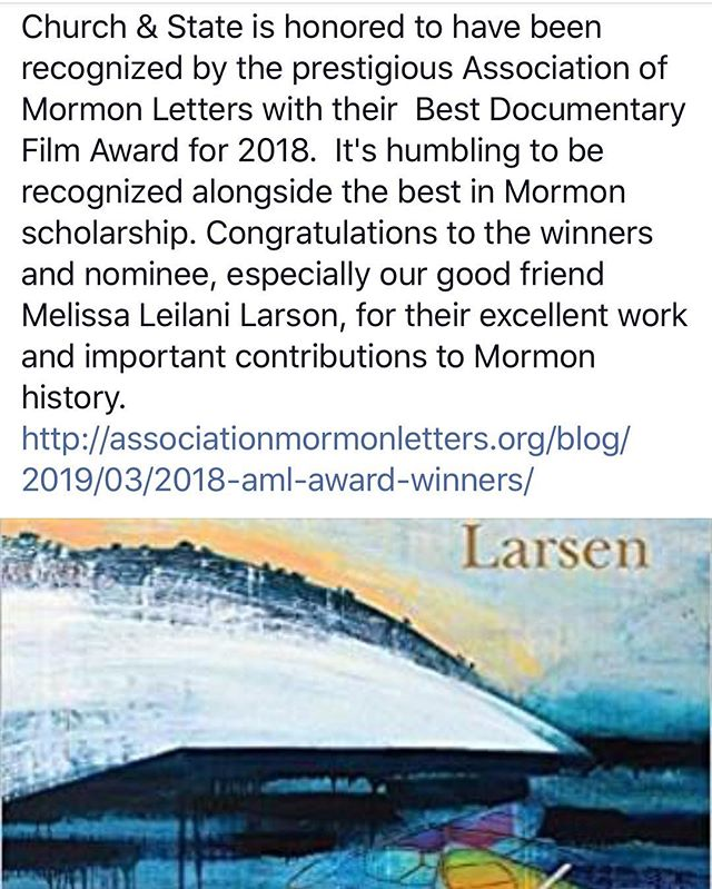 Oh hey, so this happened while I was gone... I am honored and truly at a loss for words about this award.  It really means more than anyone will ever know.  Congratulations to our @churchandst8documentary team Kendal Wilcox, @torbenbernhard @jldobner63 @blue_fox_entertainment @mia_rigby