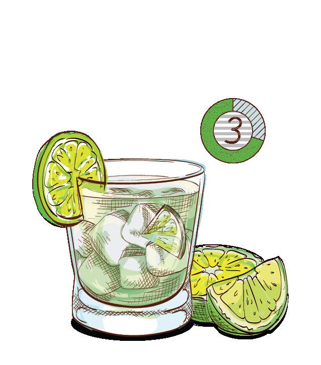 Best Caipirinha - Espirito XVI Cachaca Brazil National cocktail lime muddle sugar shake.png