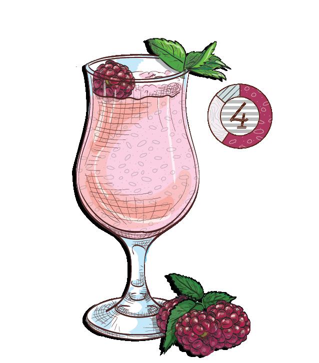 Strawberry Batida - Espirito XVI Cachaca raspberry shake cocktail