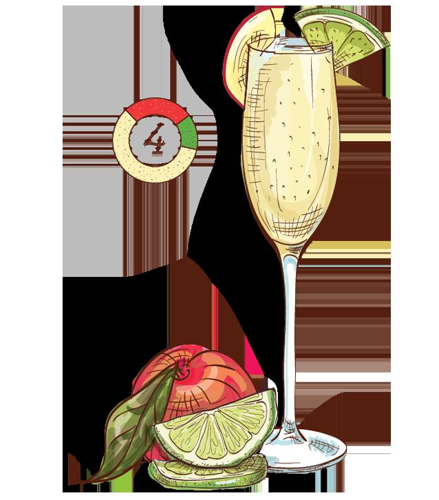 Amazonia Brazilian Mimosa - Espirito XVI Cachaca champagne lime cocktail
