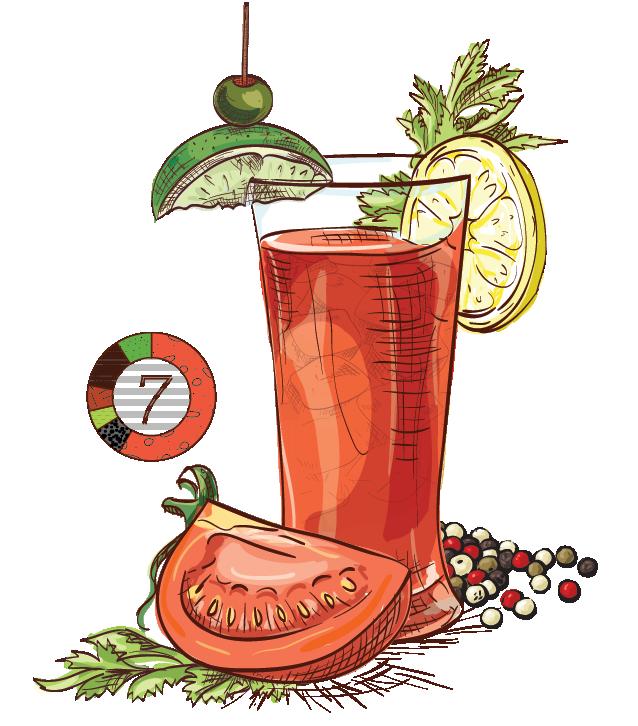 Brazilian Bloody Mary - Espirito XVI Cachaca bloody mary spicy cocktail