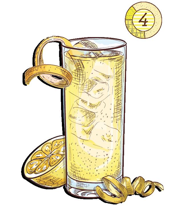 Canary Diamond - Espirito XVI Cachaca pineapple ginger beer lemon aged cocktail