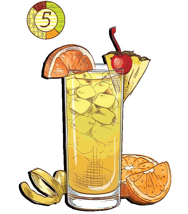 Mai Tai Samba - Espirito XVI Cachaca Dourado pineapple lemon orange cherry cocktail.png