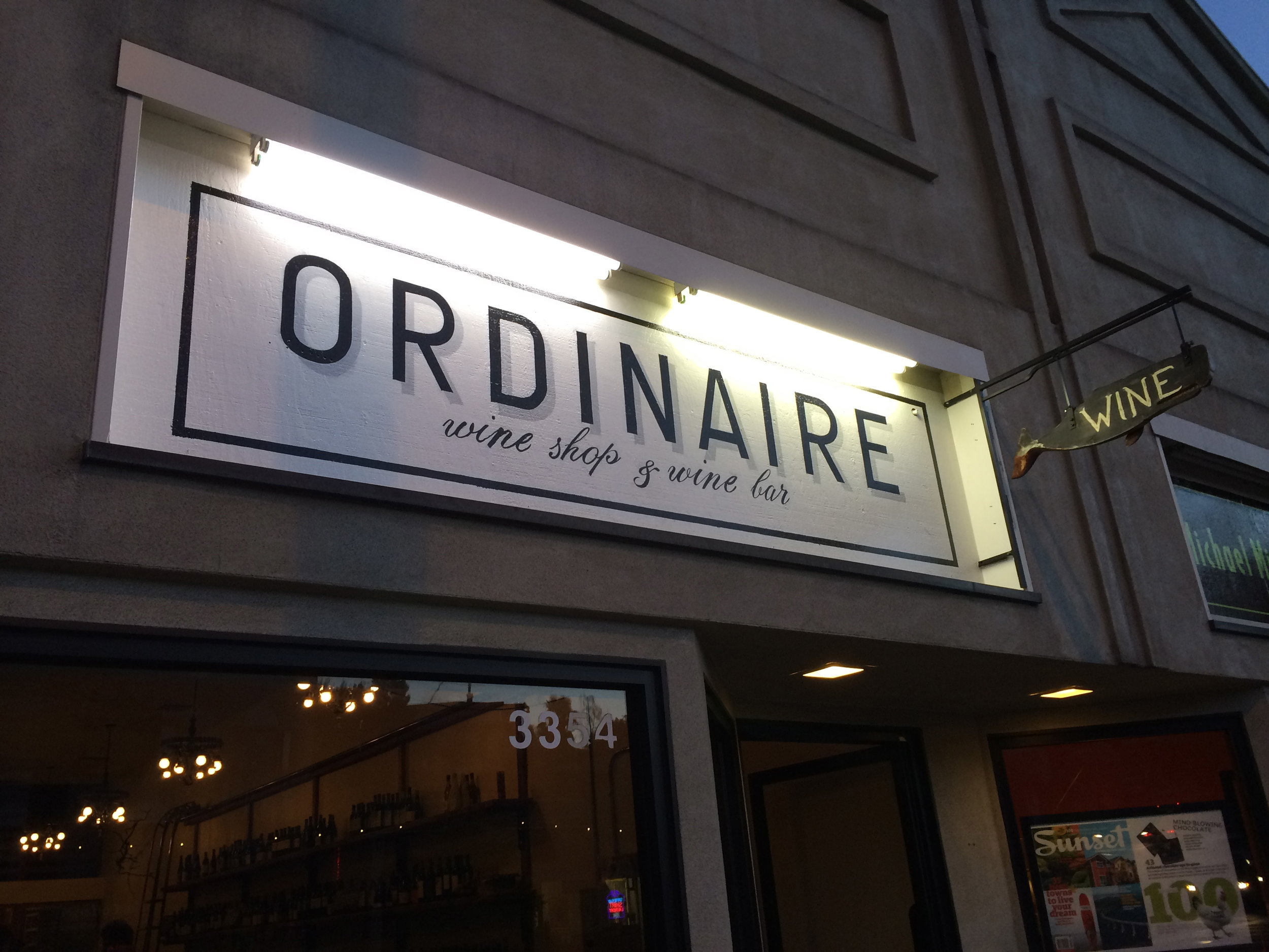 Ordinaire -- Wine shop extraodinaire