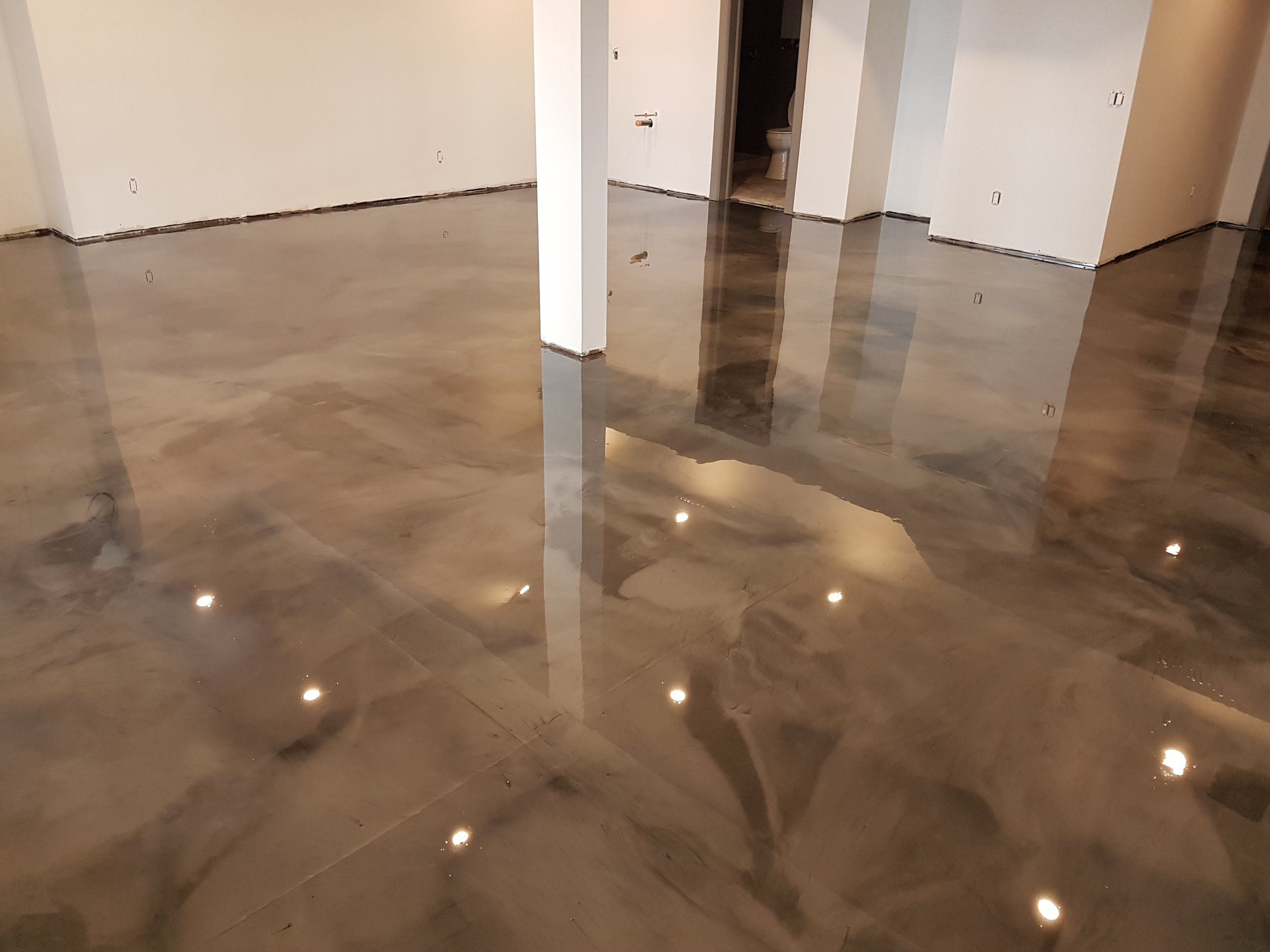 The Perfect Flooring System  Custom metallic office floors