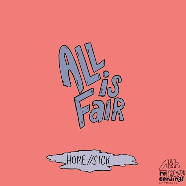 Everybody go check out All is Fair's new single! Homesick, Recorded here at 4th Ave! Link in bio