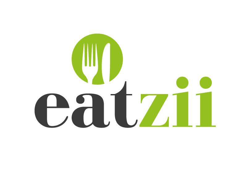 Eatzii coming soon cooking recipe ingredient logo branding design easy cooking green grey