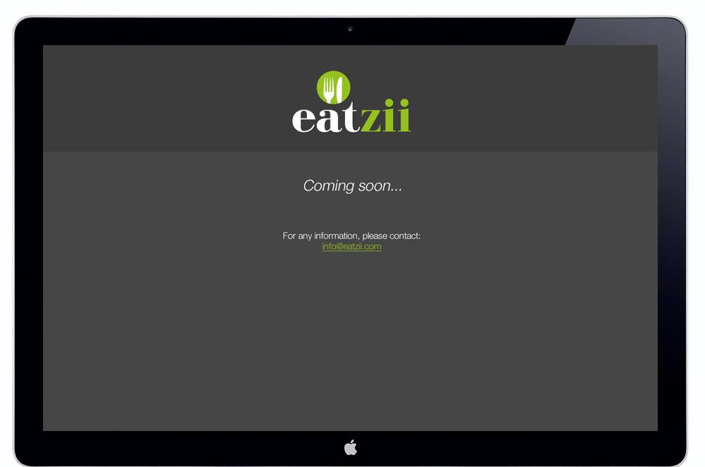 Eatzii coming soon cooking recipe ingredient website web design contact