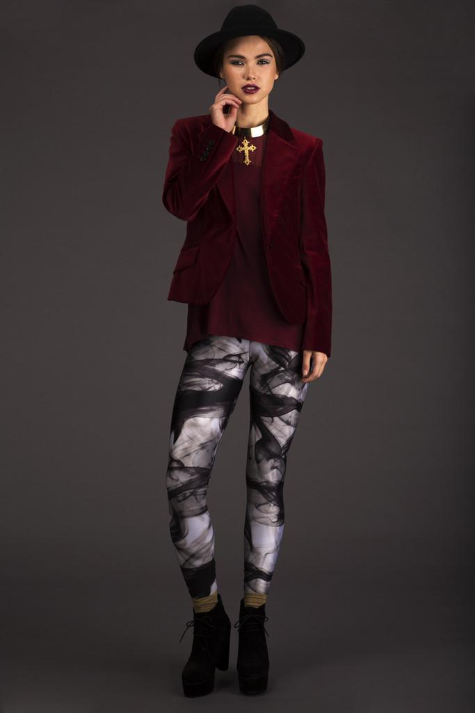 Lovelysally, Silent Smoke Leggings, Fashion