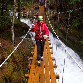 Ziplining - Skagway, Alaska