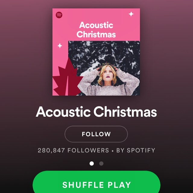 If you like our special sad Christmas styles you can catch our version of Blue Spruce Needles on the @Spotify Acoustic Christmas playlist