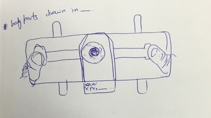 An early design sketch of the Foldscope.