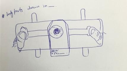 An early design sketch of the Foldscope.