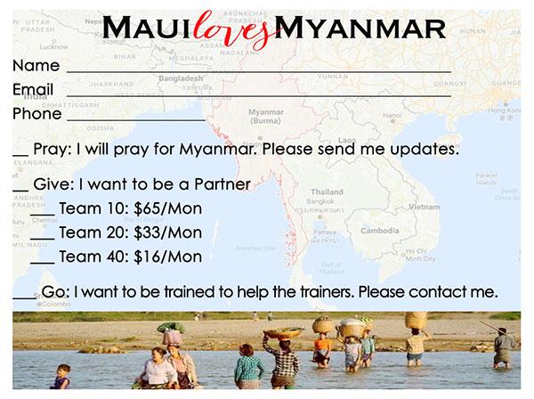 Maui Loves Myanmar