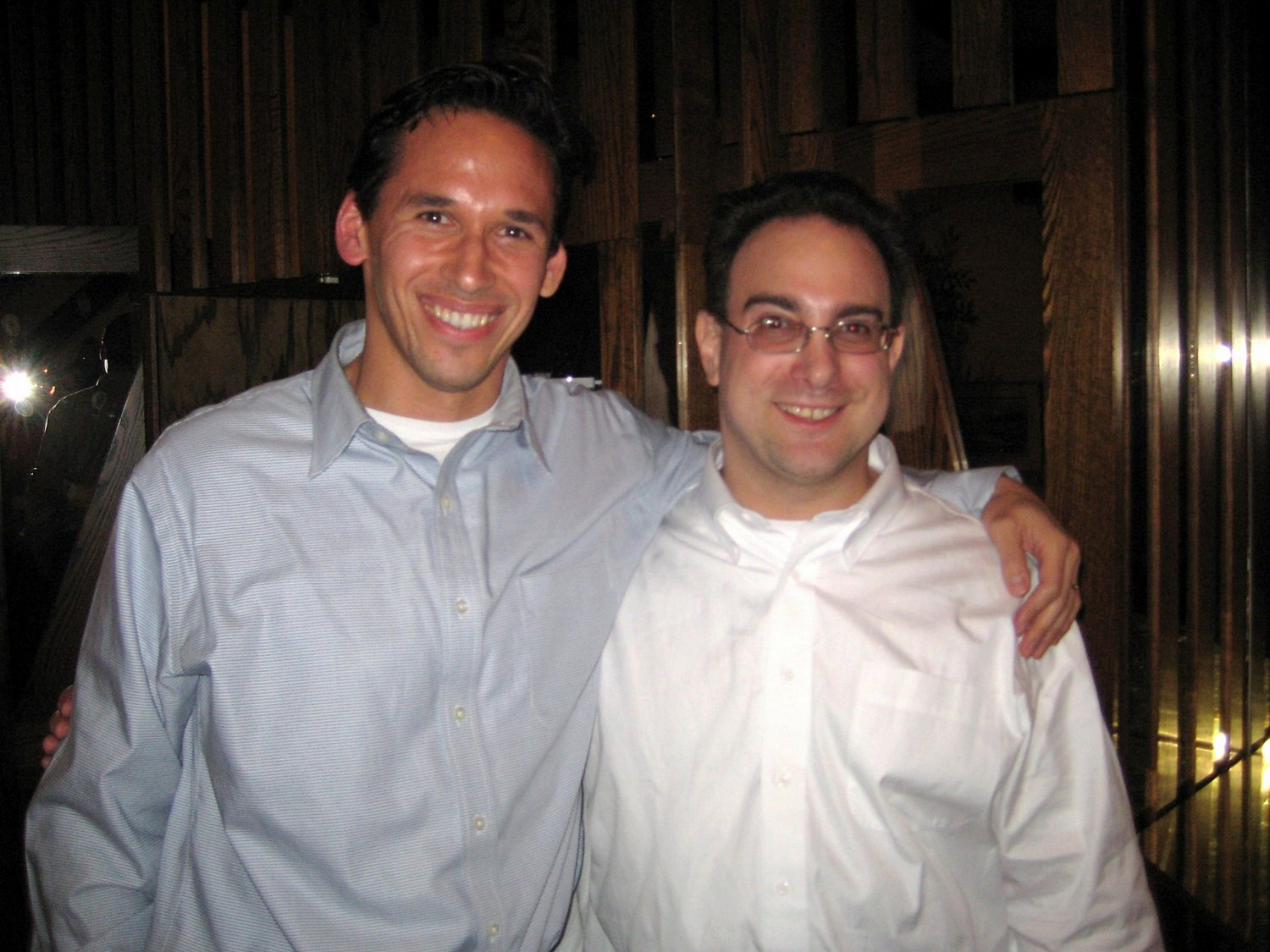 Marc Howard and Marty Tankleff on December 27, 2007, the day that Marty was released after over 17 years of wrongful imprisonment