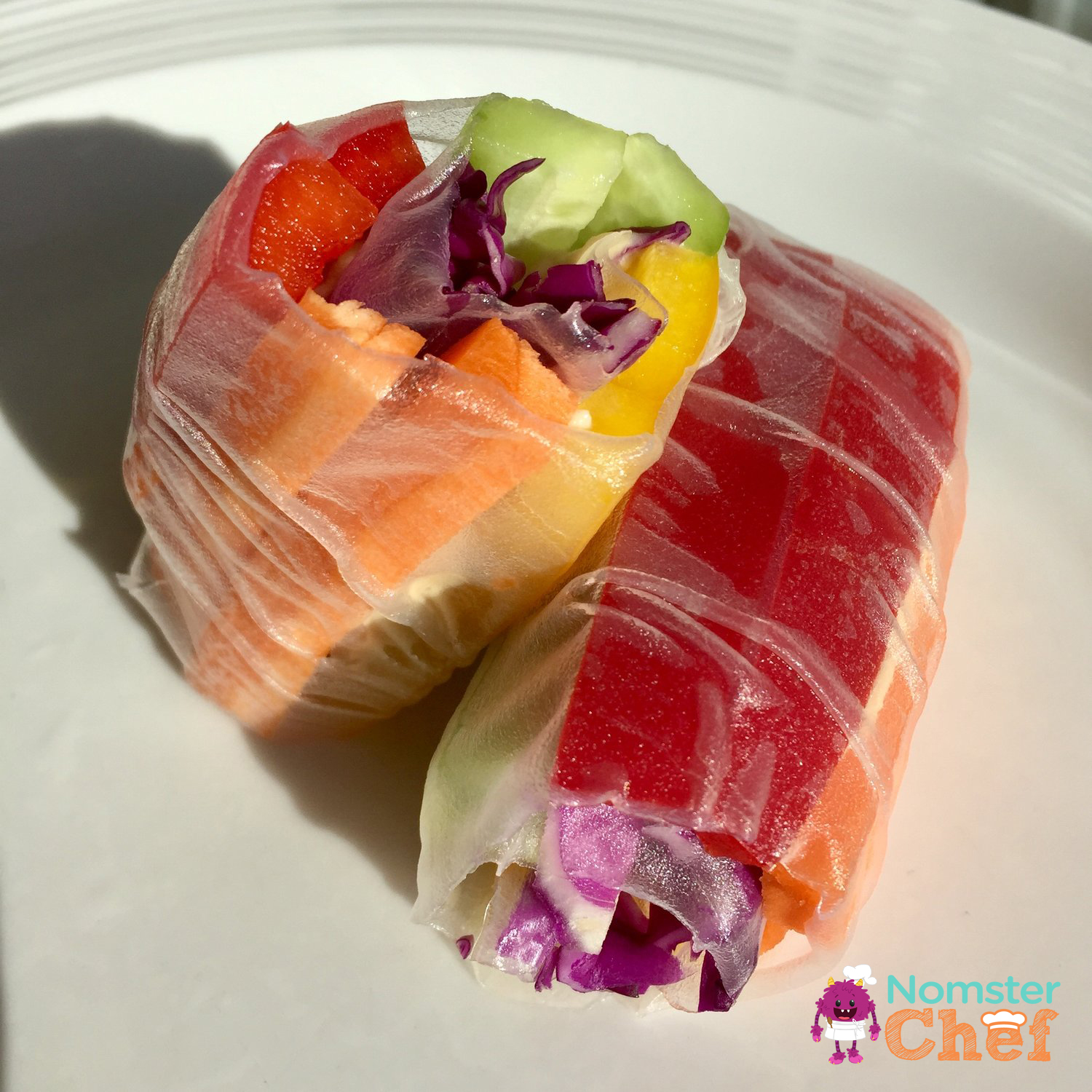 rainbow rice roll Nomster Chef_5 Healthy Lunches for Kid Chefs