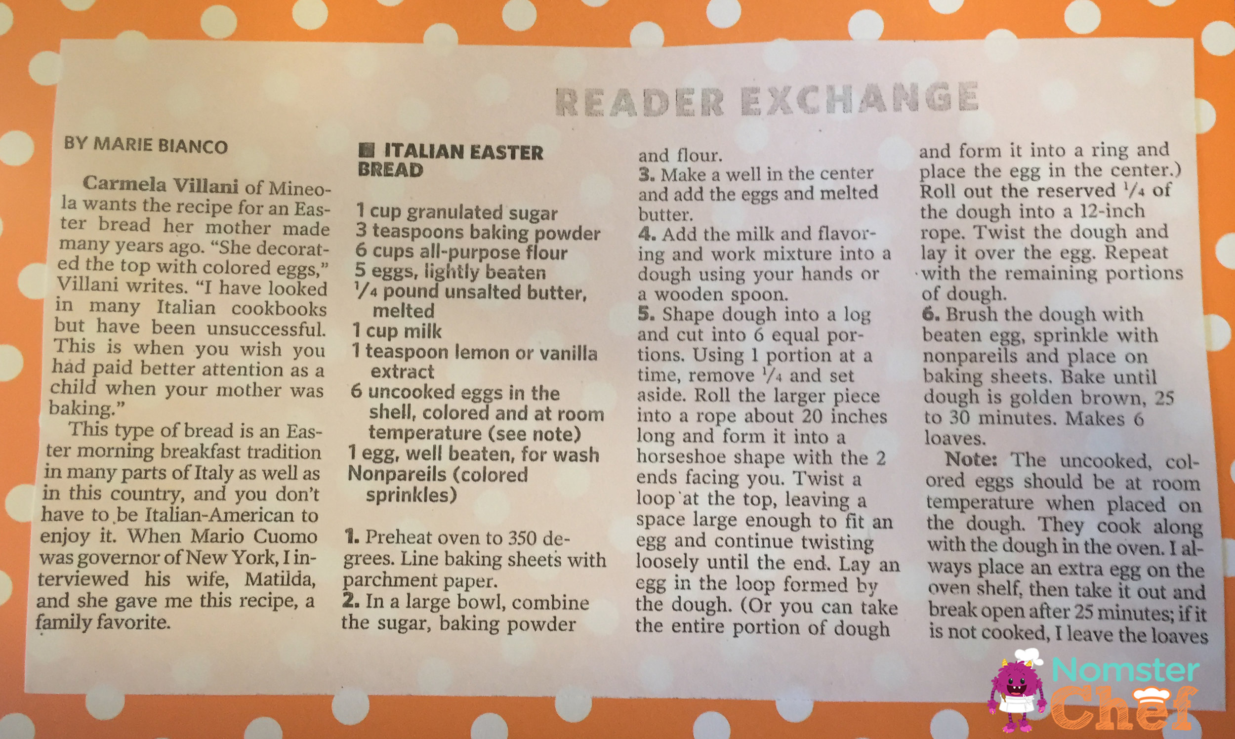 Grandma Rita's Italian Easter Bread Recipe | Food is Family | Nomster Chef