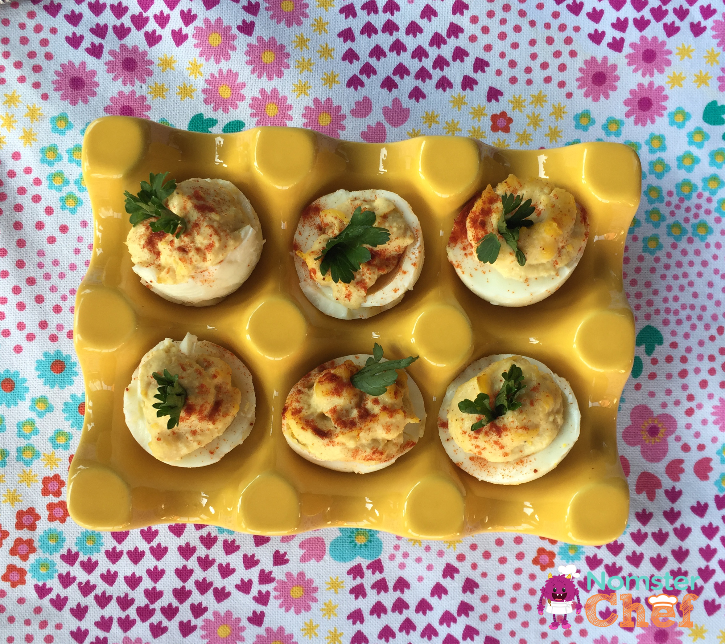 Deviled Eggs | Food is Family | Easter | Nomster Chef