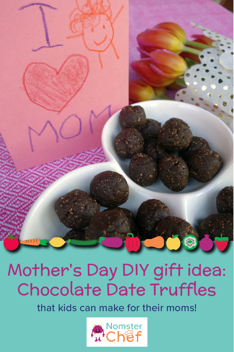 Nomster Chef Mother S Day Diy Gift Idea Chocolate Date Truffles Fun Food Recipes For Kids To Make For Healthy Eating