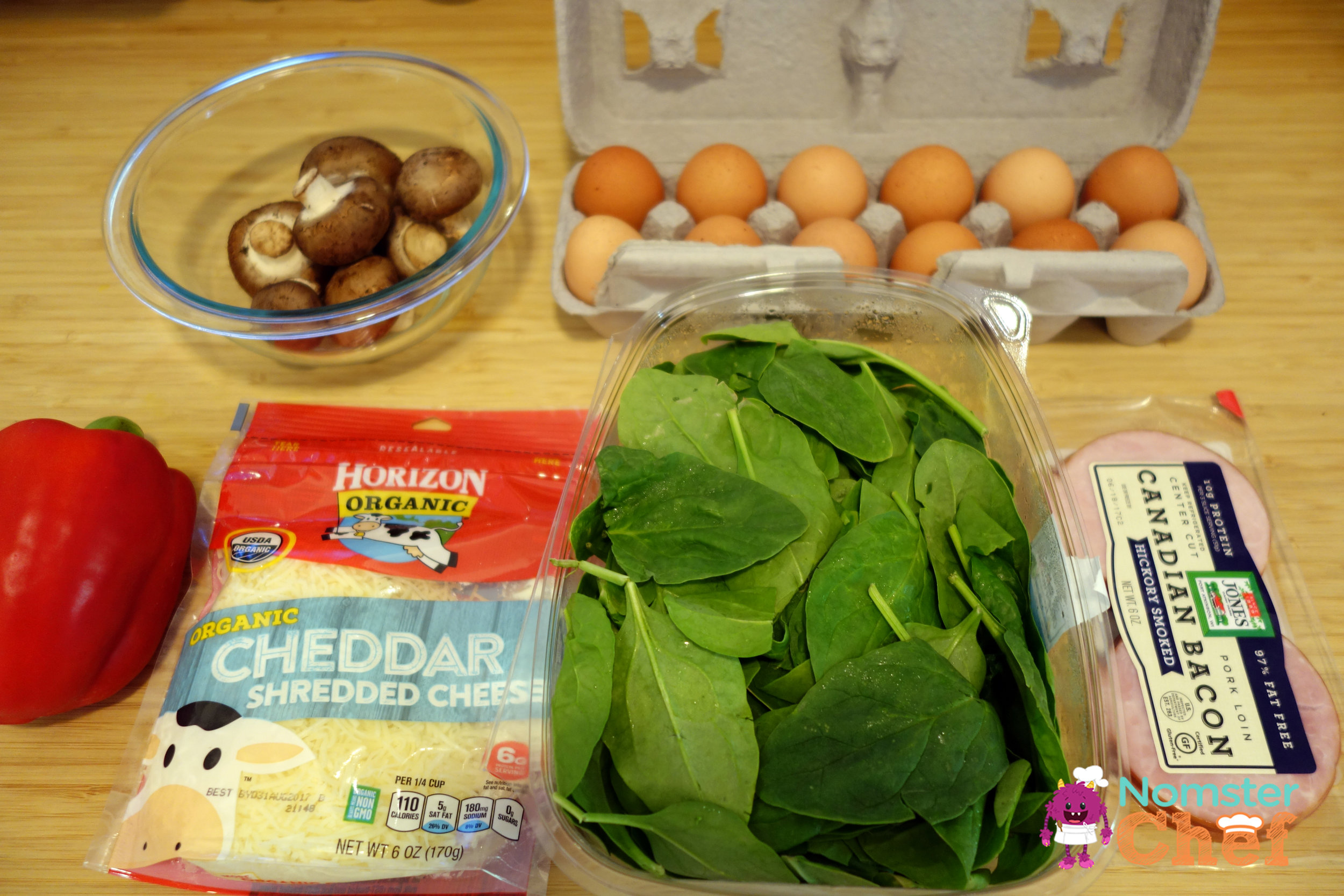 Healthy Breakfast for Kids - Western Omelette Muffin - Nomster Chef