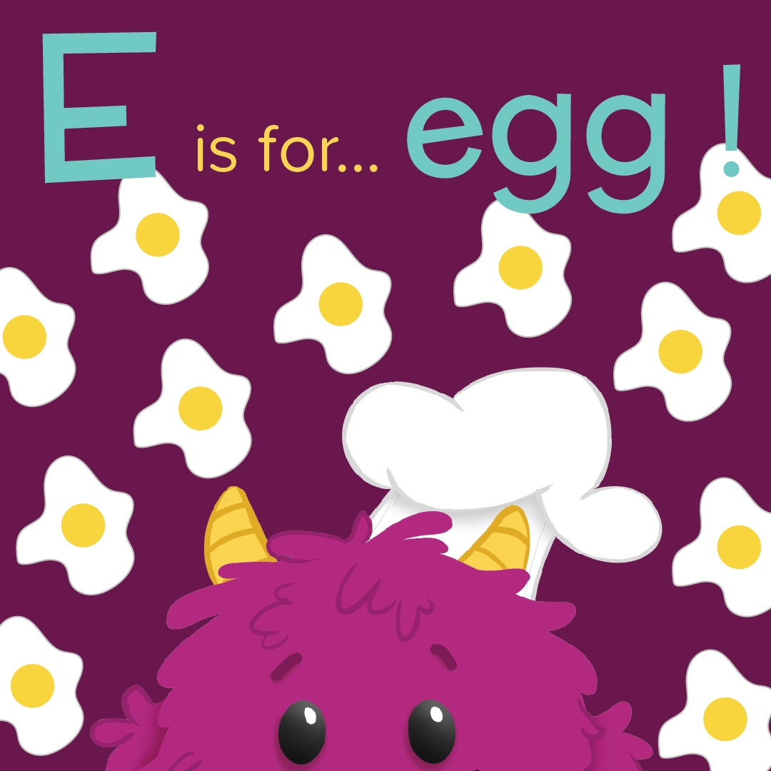 E is for egg - Western Omelette Muffin - Nomster Chef