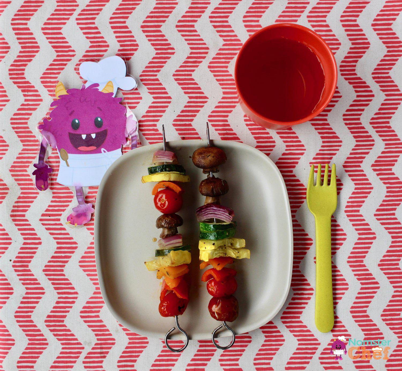 Memorial Day BBQ - Rainbow Veggie Skewers -NomsterChefBlog copy.jpg
