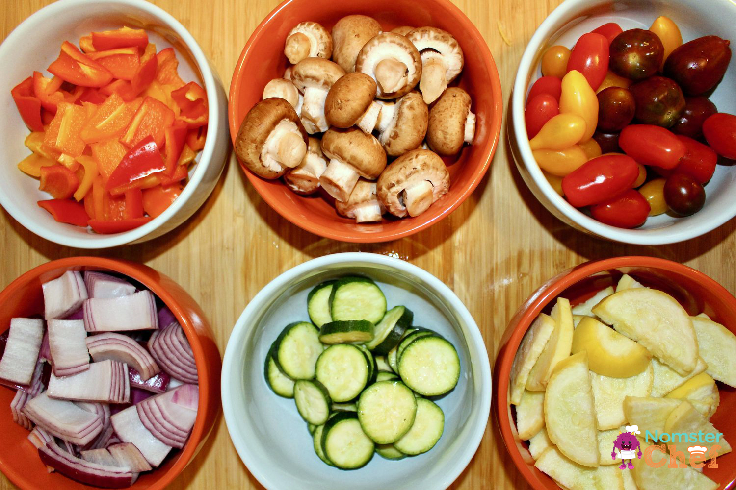 Memorial Day BBQ Rainbow Veggie Skewers - Nomster Chef Blog