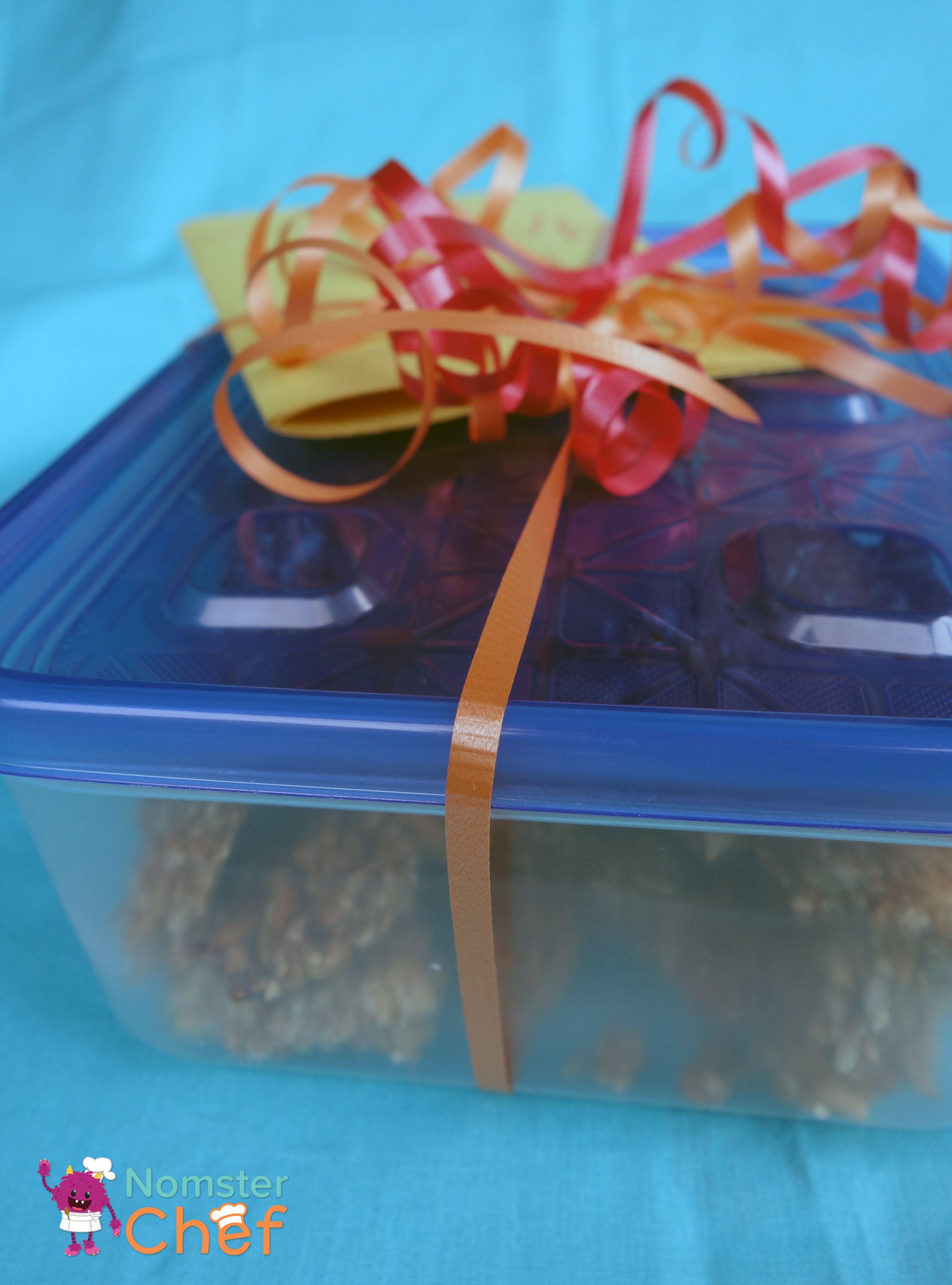 DIY Teacher Appreciation Gift Kids Can Make- Nut and Seed Brittle-packaged-Nomster Chef