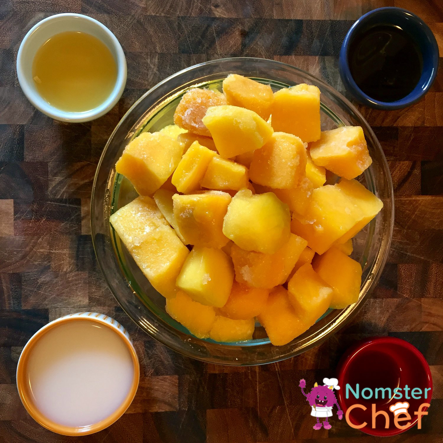 Fruit Ice Pops for Your Pops Fathers Day Ice Pops -frozen mango- Nomster Chef Recipe
