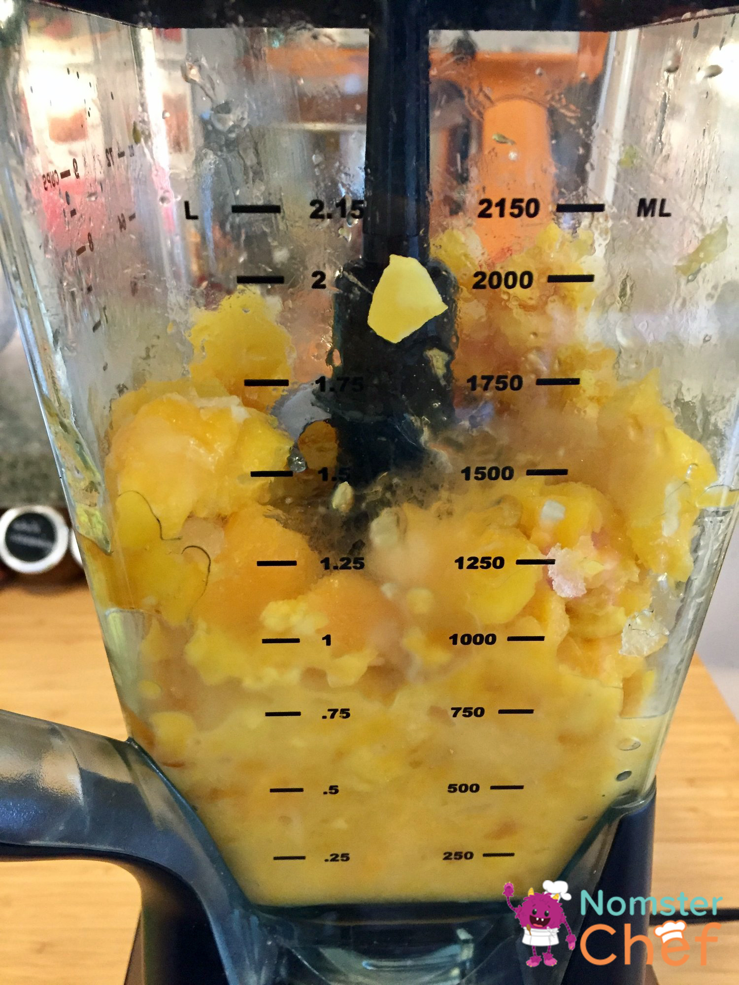 Ice Pops for Your Pops Fathers Day Ice Pops -mango in blender- Nomster Chef Recipe
