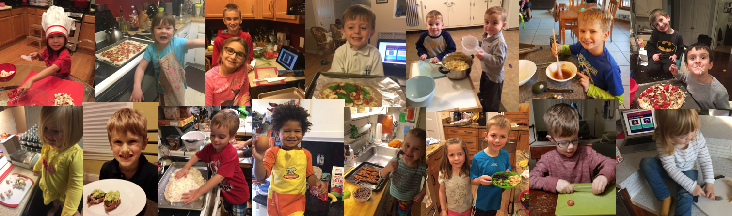 Some of our awesome recipe storybook testers