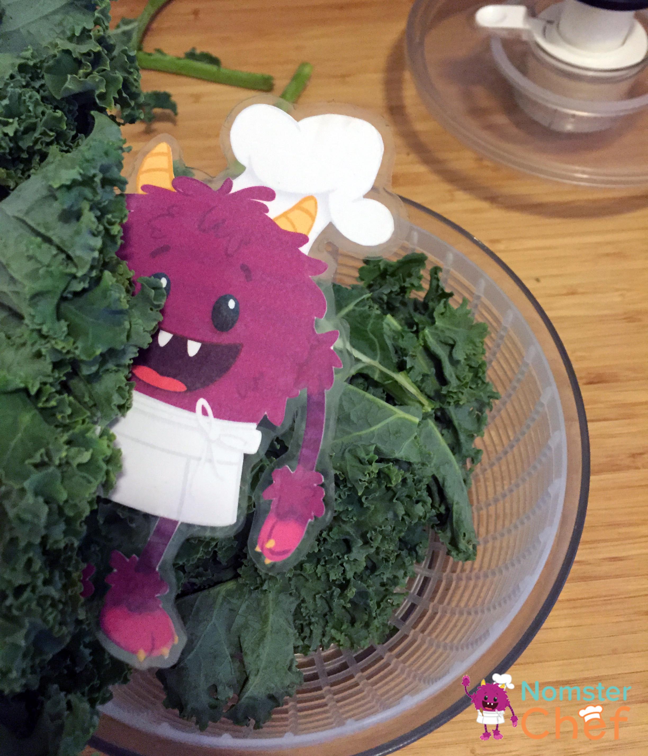 Kale Salad Spinner_Food Hack Make Your Own Taco Kale Chips - Nomster Chef Blog Recipe