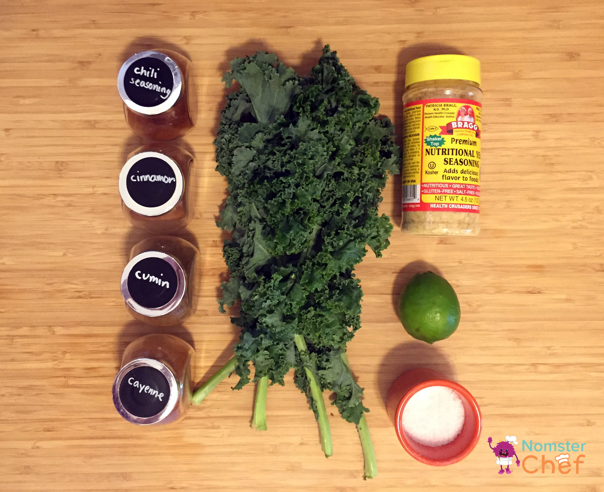 Taco kale ingredients_Food Hack Make Your Own Taco Kale Chips - Nomster Chef Blog Recipe