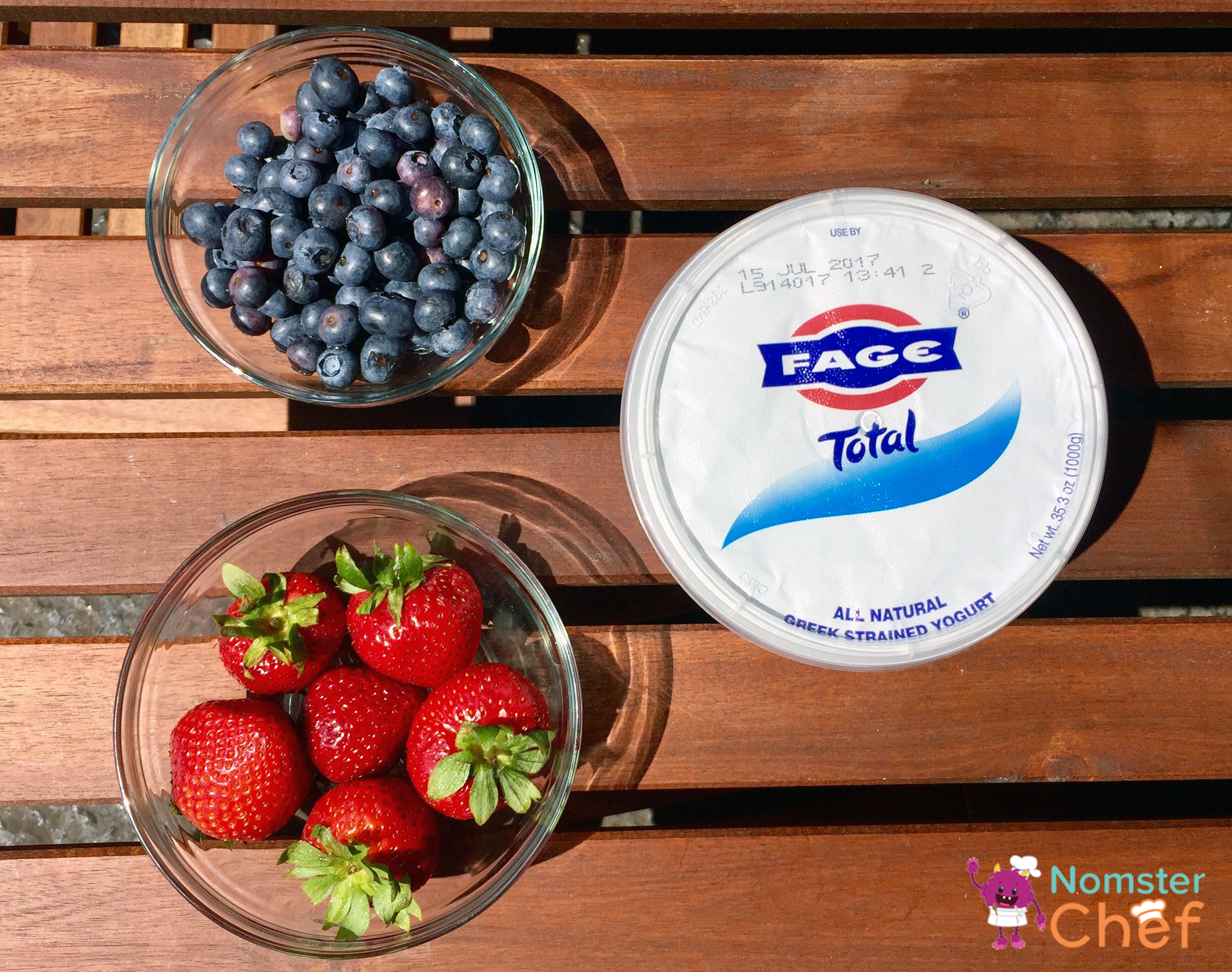 Strawberries Blueberries Yogurt-4th of July Ice Pops - Nomster Chef Blog Recipe
