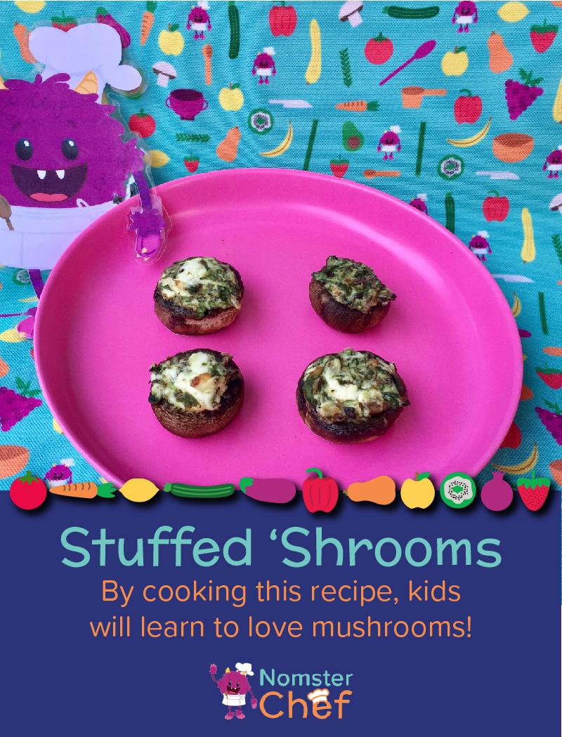 Stuffed Mushrooms Shtuffed Shrooms - Nomster Chef