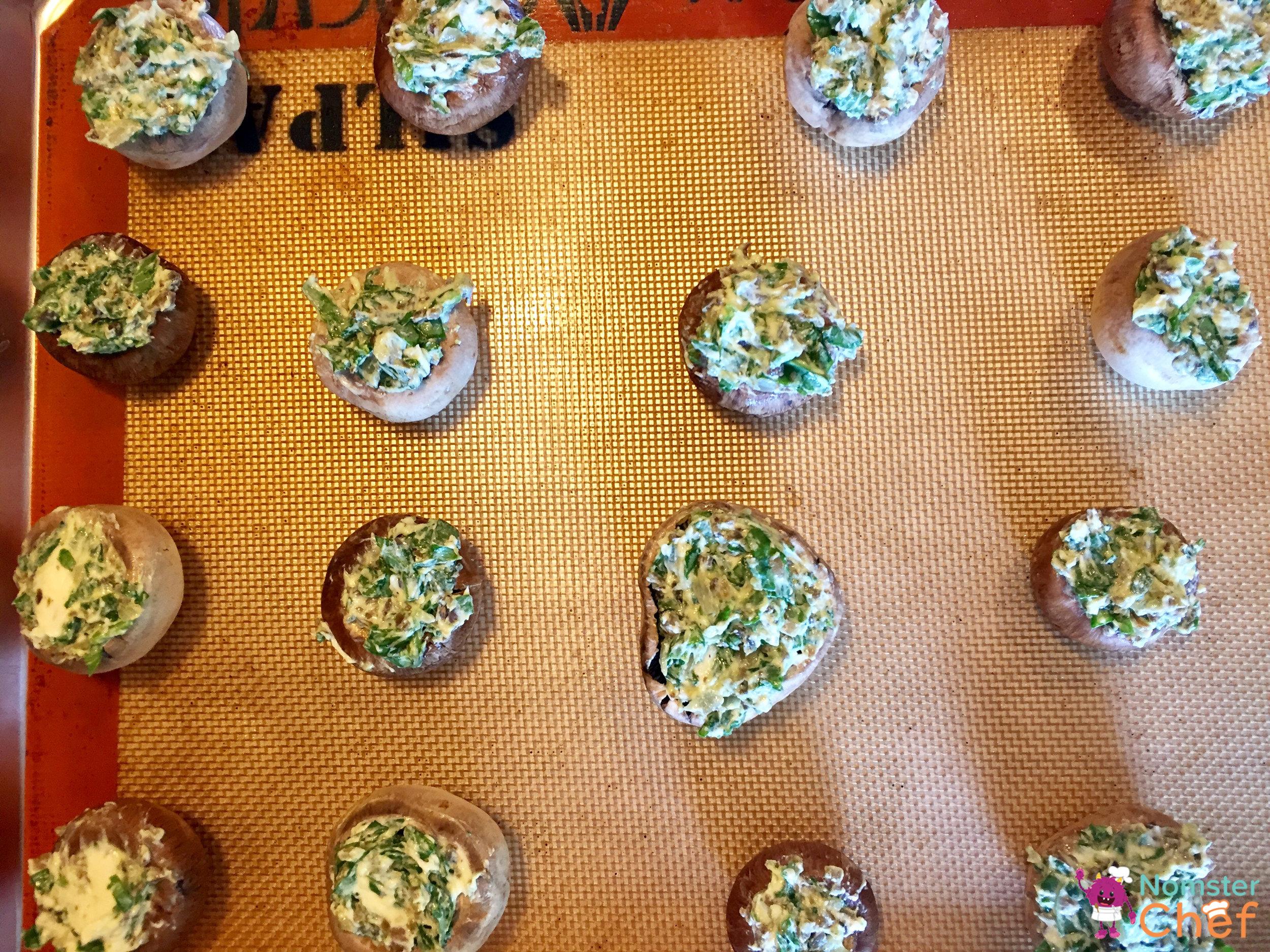 Shtuffed Shrooms - Nomster Chef Blog Recipe