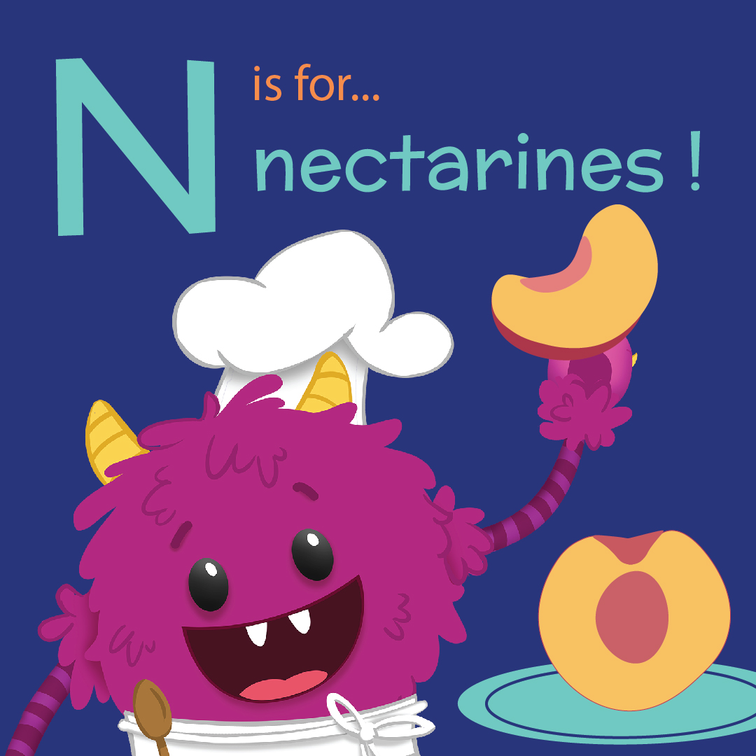 N is for Nectarine - Nectarine Upside Down Corn Cake - Nomster Chef Blog Recipe
